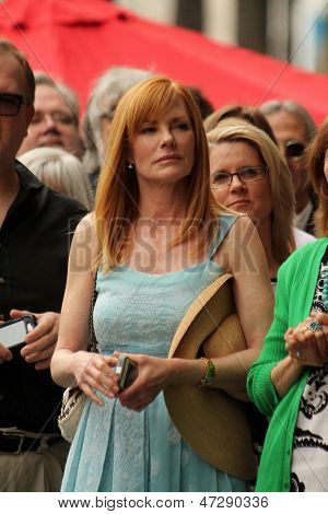 LOS ANGELES - JUN 24:  Marg Helgenberger at  the Jerry Bruckheimer Star on the Hollywood Walk of Fame  at the El Capitan Theater on June 24, 2013 in Los Angeles, CA