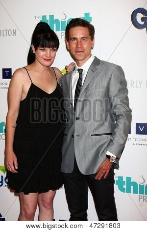 LOS ANGELES - JUN 25:  Pauley Perrette, Brian Dietzen arrives at the 4th Annual Thirst Gala at the Beverly Hilton Hotel on June 25, 2013 in Beverly Hills, CA
