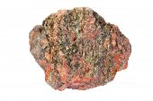 Pink granite with lots of greenish mica (muscovite) poster