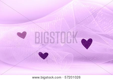 Hearts on Tulle-ing Background