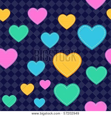 Seamless Heart Pattern Background