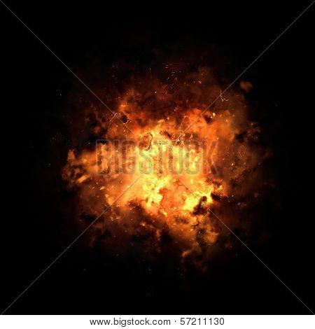 Fiery Exploding Burst