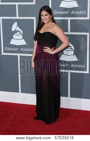 Hillary Scott at the 54th Annual Grammy Awards, Staples Center, Los Angeles, CA 02-12-12