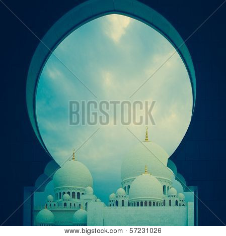 Blue And White Islamic Mosque