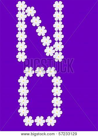 flowers letter n,o