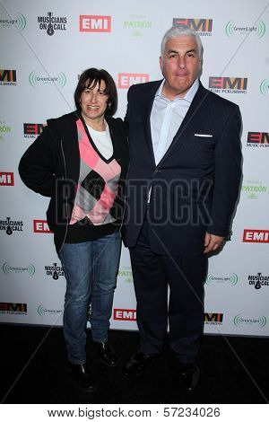 Janis Winehouse, Mitch Winehouse at the EMI Music 2012 Grammy Awards Party, Capital Records, Hollywood, CA 02-12-12