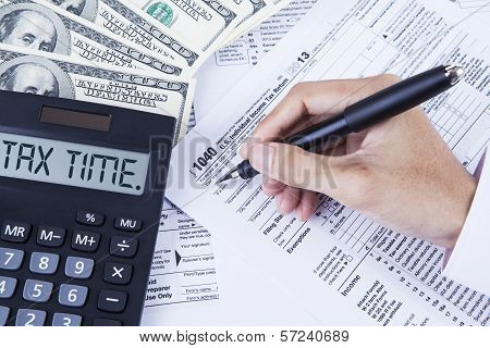 Filling The 1040 Tax