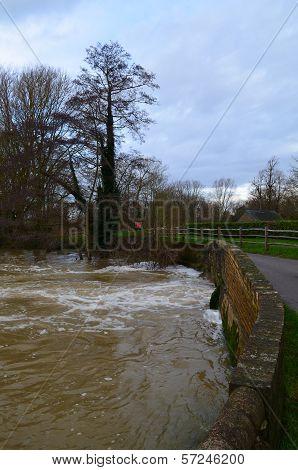 High flood water