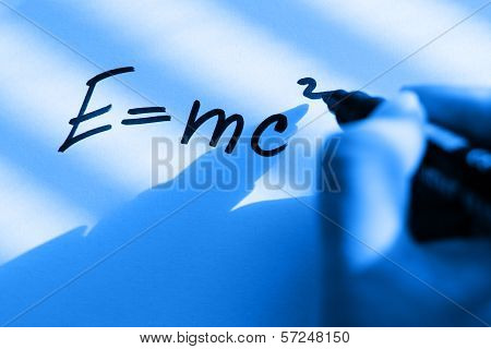 E = mc2 - theory of relativity