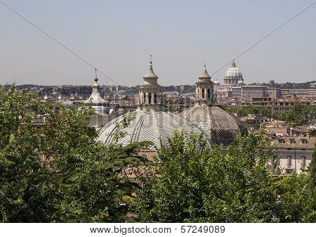 Rooftops in Rome, Italy