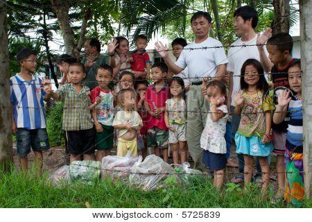 Hmong-Flüchtlinge in Idc Nong Khai, thailand