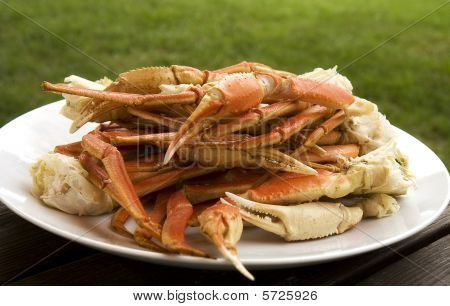 Crab Legs On Plate