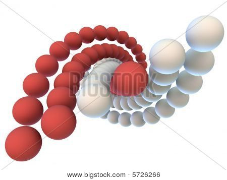 Red and white helix