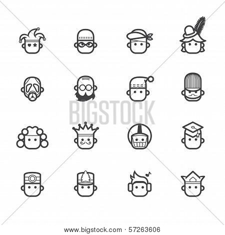 Occupation Black Icon Set 2 On White Background