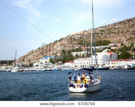 White Sailboat