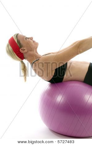 Sit Ups fuerza Pose edad media mujer Fitness base Ball