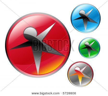 Star Figure Abstract Icon Orb Symbol Set