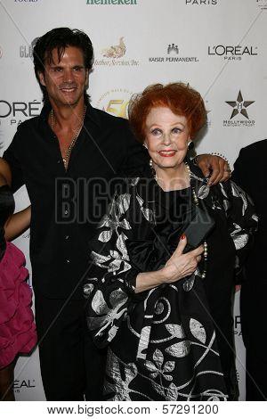 Lorenzo Lamas and Arlene Dah at thr Hollywood Walk of Fame's 50th Birthday Bash,  Kodak Theater Grand Ballroom, Hollywood, CA. 11-03-10