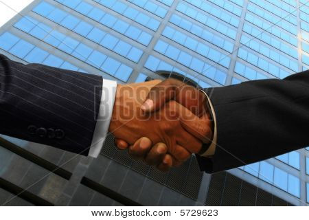 African American businessmen handsake