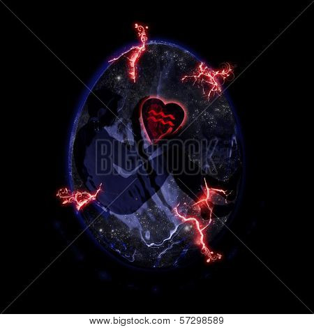 Aquarius Symbolic Love