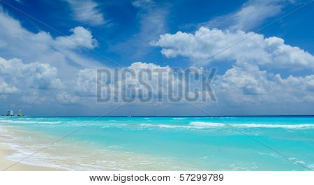 Beautiful beach in Cancun