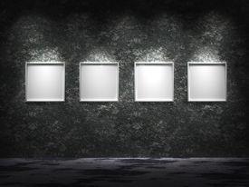 Empty dark gallery