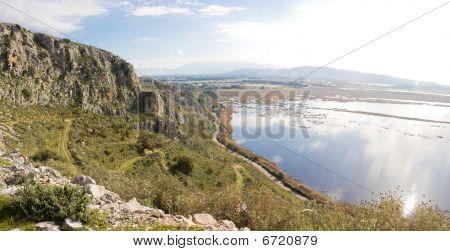 Mavra Ori Mountain And Prokopos Lagoon