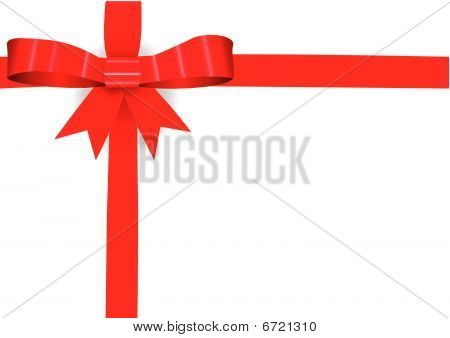 Red Bow On A Card