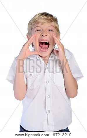 Young Boy Scream