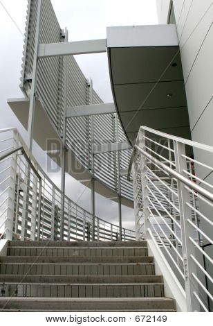 Modern Stairway On Overcast Day