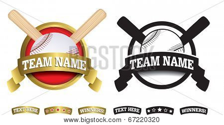 sports badge or icon isolated on a white background