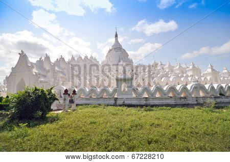 Hsinbyume (myatheindan) Paya Temple, Mingun, Mandalay In Myanmar