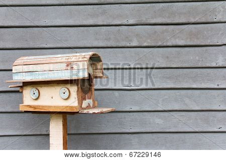 old wooden mailbox