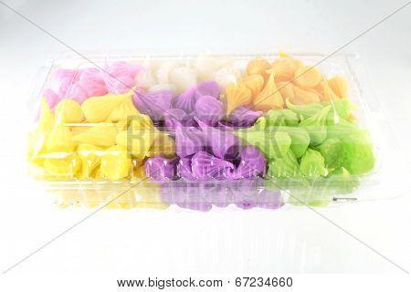 Colorful Sweetness Thai Style Dessert
