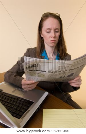 Woman With Newspaper-01