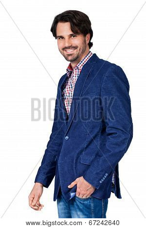 Handsome Smiling Man Approaching The Camera