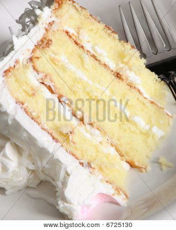 Close Up Of Cake And Fork