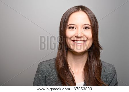 Attractive Woman With A Vivacious Smile