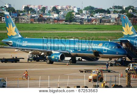 Airplane At Tan Son Nhat Airport