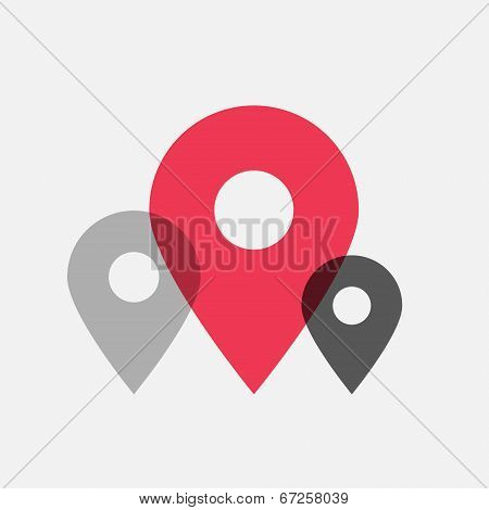 Map pointer flat icons