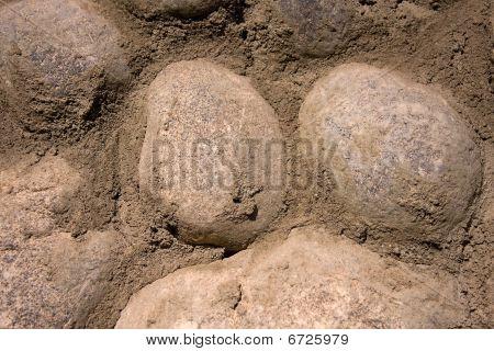 Rock wall texture.