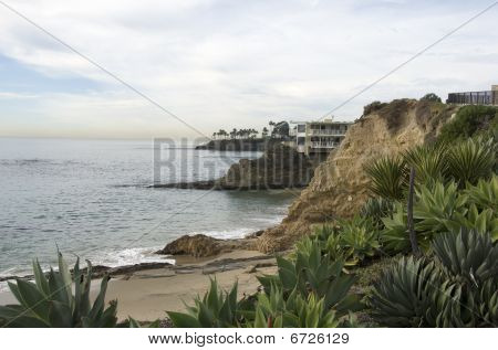 The beaches and cliffs of southern California