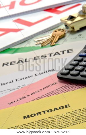 Real Estate Documents On Realtor Desk