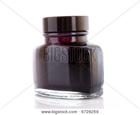 Ink for pen isolated  on a white background poster