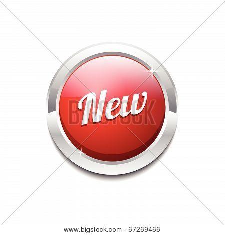 New Collection Glossy Shiny Circular Vector Button