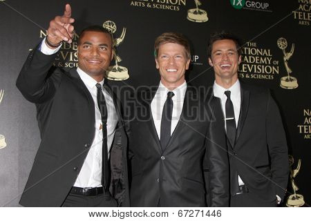 LOS ANGELES - JUN 22:  Redaric Williams, Burgess Jenksins, Mathew Atkinson at the 2014 Daytime Emmy Awards Arrivals at the Beverly Hilton Hotel on June 22, 2014 in Beverly Hills, CA