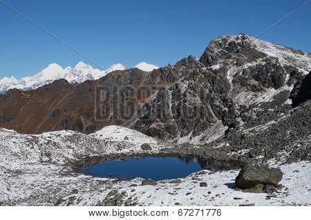 Beautiful Blue Lake Near Gosainkund