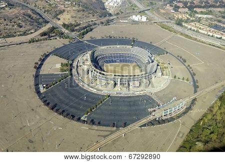 Aerial View Of Qualcomm Stadium, San Diego