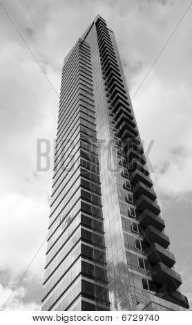 Modern Glass High Rise Sky Scrapper Two Tone
