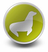 Icon Button Pictogram Image Graphic with Seal symbol poster